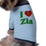Amo a Zia (la tía italiana) Camisas De Mascota