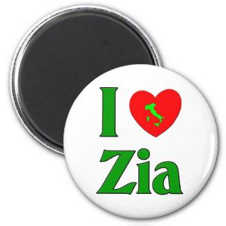 Amo a Zia (la tía italiana) Imán Redondo 5 Cm