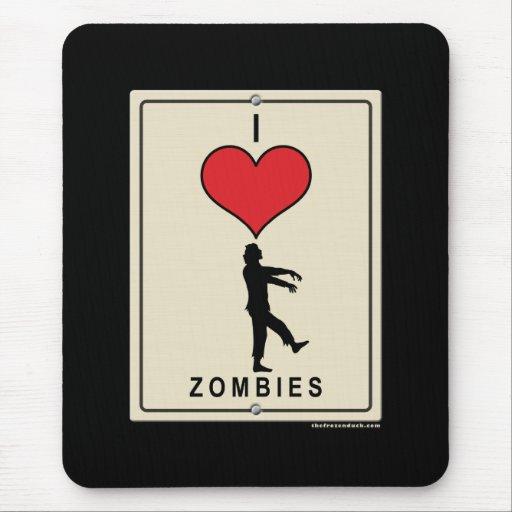 Amo a zombis alfombrillas de ratones