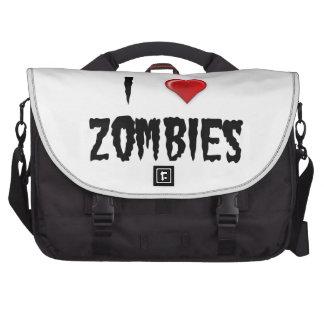 Amo a zombis bolsas para ordenador