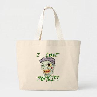 Amo a zombis bolsas de mano