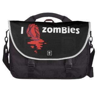 Amo a zombis bolsas para portátil