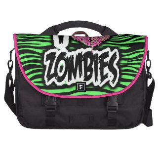 Amo a zombis bolsas de ordenador