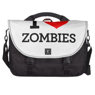 Amo a zombis bolsas para portatil