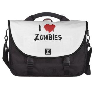 Amo a zombis bolsas de portatil