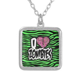 Amo a zombis colgante cuadrado