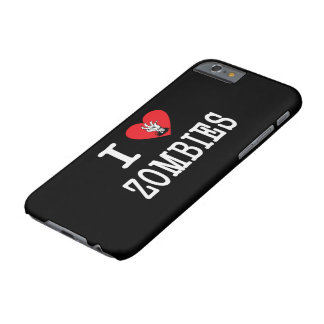 Amo a zombis funda para iPhone 6 barely there