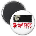 Amo a zombis imán para frigorifico