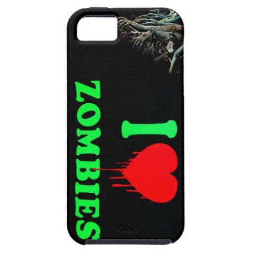 Amo a zombis iPhone 5 carcasa