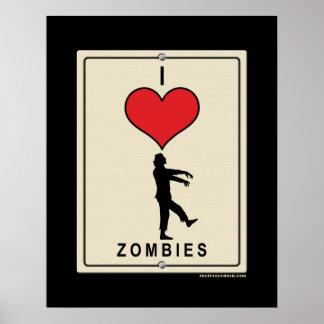 Amo a zombis posters
