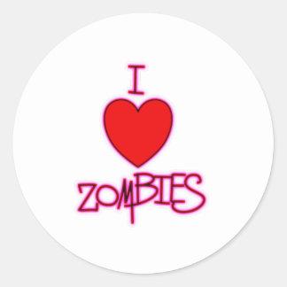 ¡Amo a zombis Etiquetas