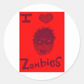amo a zombis pegatina