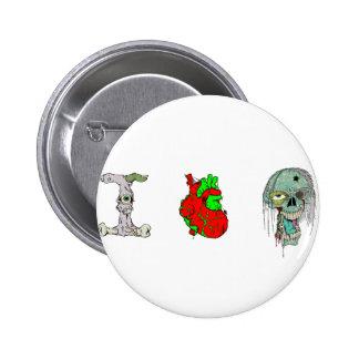 ¡Amo a zombis!! Chapa Redonda 5 Cm