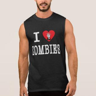 Amo a zombis playera sin mangas