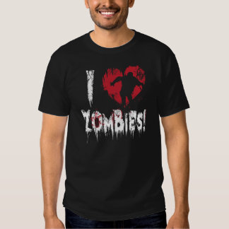 Amo a zombis remeras