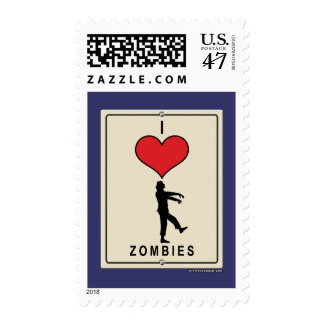 Amo a zombis sello postal