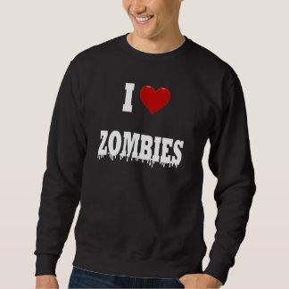 Amo a zombis sudaderas encapuchadas