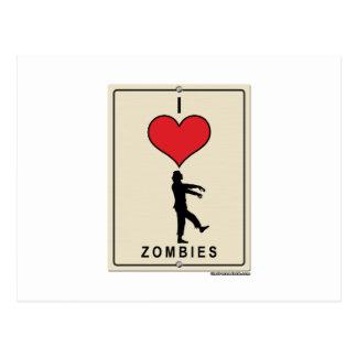 Amo a zombis tarjetas postales
