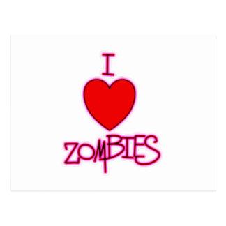 ¡Amo a zombis! Tarjeta Postal