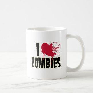 Amo a zombis taza