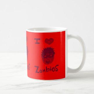 amo a zombis taza de café