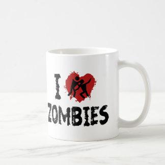 Amo a zombis tazas de café