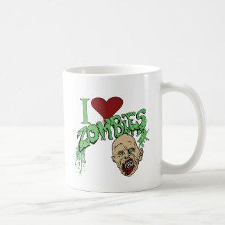 Amo a zombis tazas