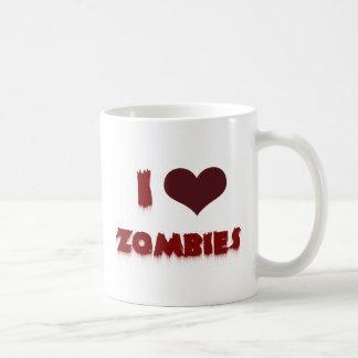 ¡Amo a zombis! Taza De Café