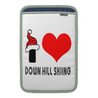 Amo abajo de diseño del esquí de la colina fundas macbook air