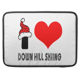 Amo abajo de diseño del esquí de la colina funda macbook pro