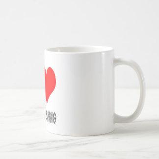 Amo abajo de diseño del esquí de la colina taza de café