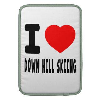 Amo abajo del esquí de la colina funda para macbook air