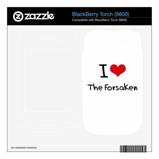 Amo abandonado BlackBerry calcomanías