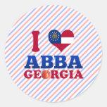Amo Abba, Georgia Etiqueta Redonda