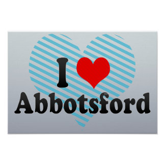 Amo Abbotsford Canadá Posters