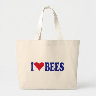 Amo abejas bolsa tela grande