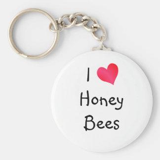 Amo abejas de la miel llaveros