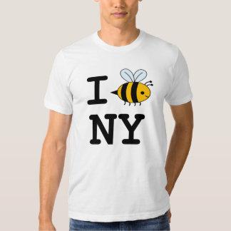 Amo abejas en camisa de NY