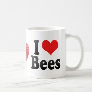 Amo abejas taza básica blanca