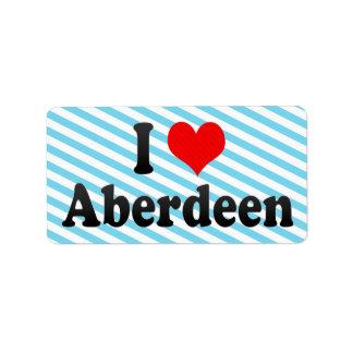 Amo Aberdeen, Reino Unido Etiqueta De Dirección
