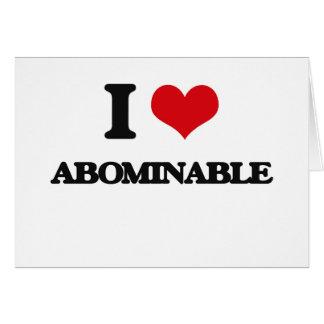 Amo abominable tarjeta