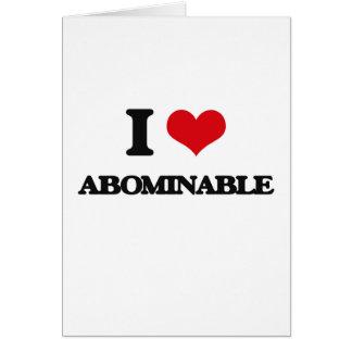 Amo abominable tarjetas