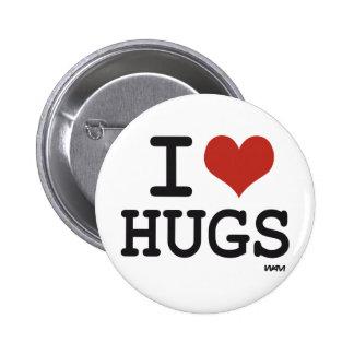 Amo abrazos pin redondo 5 cm