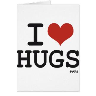 Amo abrazos tarjeta de felicitación