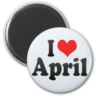Amo abril iman de frigorífico