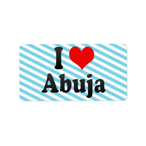 Amo Abuya, Nigeria Etiqueta De Dirección