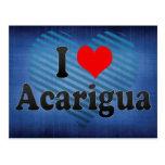 Amo Acarigua, Venezuela Tarjeta Postal