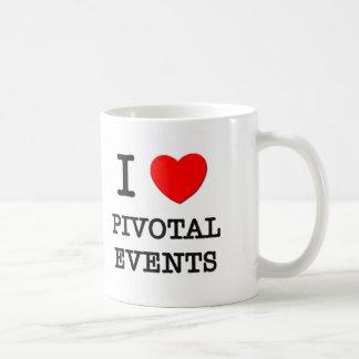 Amo acontecimientos giratorios tazas de café