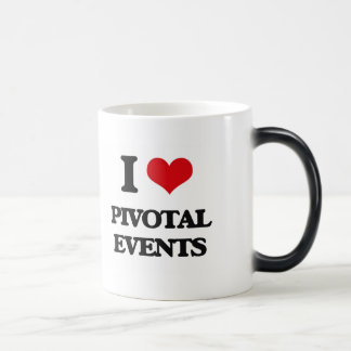 Amo acontecimientos giratorios taza