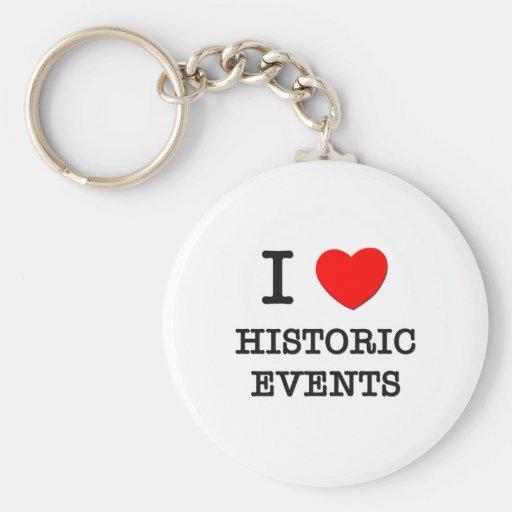 Amo acontecimientos históricos llavero personalizado
